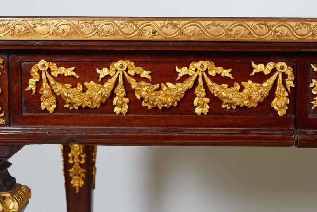 Fine Ormolu Jasperware Wedgewood-Mounted Mahogany Table - 5