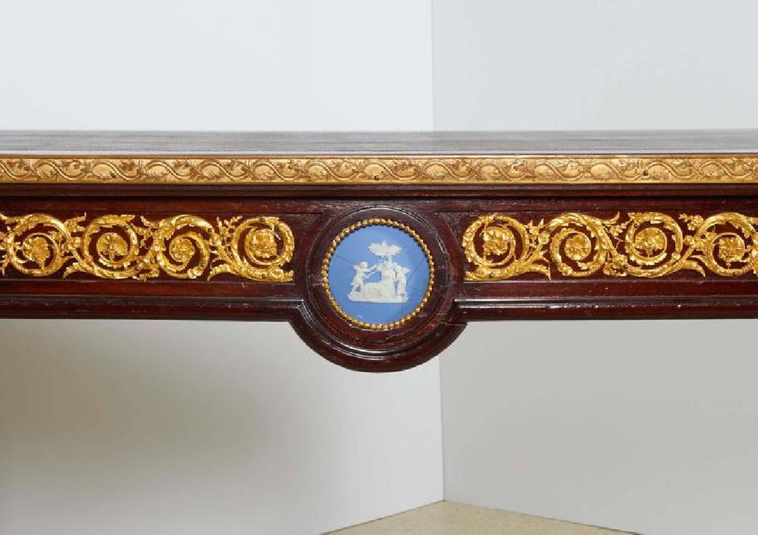 Fine Ormolu Jasperware Wedgewood-Mounted Mahogany Table - 8