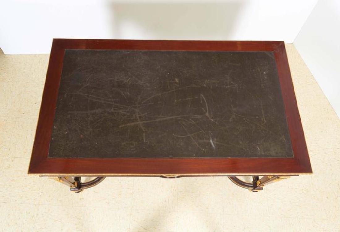 Fine Ormolu Jasperware Wedgewood-Mounted Mahogany Table - 9
