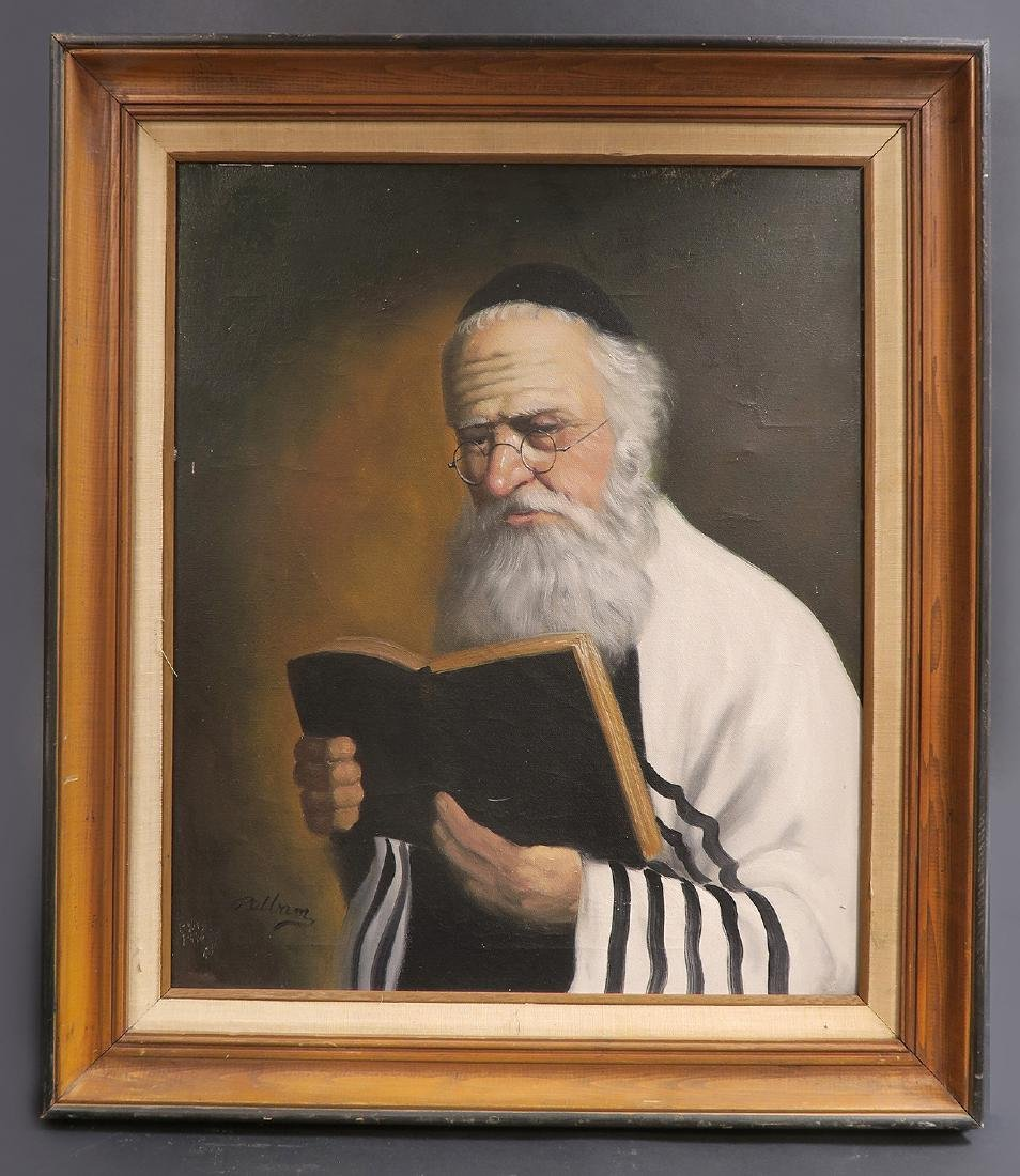 Fine Oil Painting of a Rabbi. Signed! - 2
