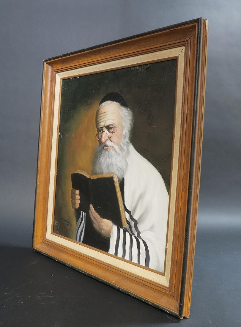 Fine Oil Painting of a Rabbi. Signed! - 4
