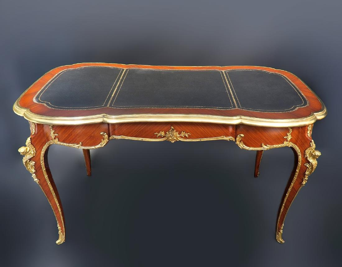 Very Fine 19th C. French Bronze Mounted Desk