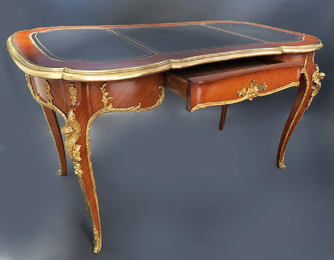 Very Fine 19th C. French Bronze Mounted Desk - 4