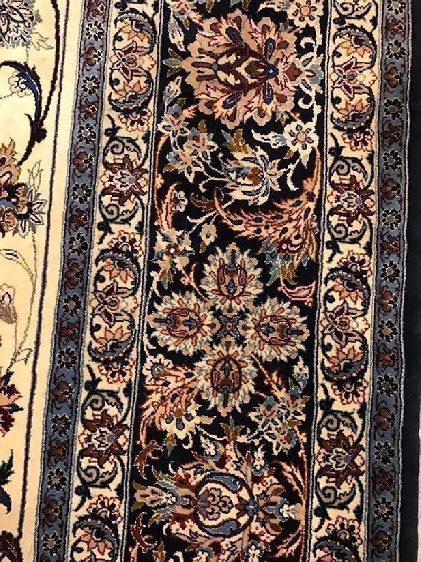 Persian Hand Made Isfahan Rug (Signed Nael) - 7