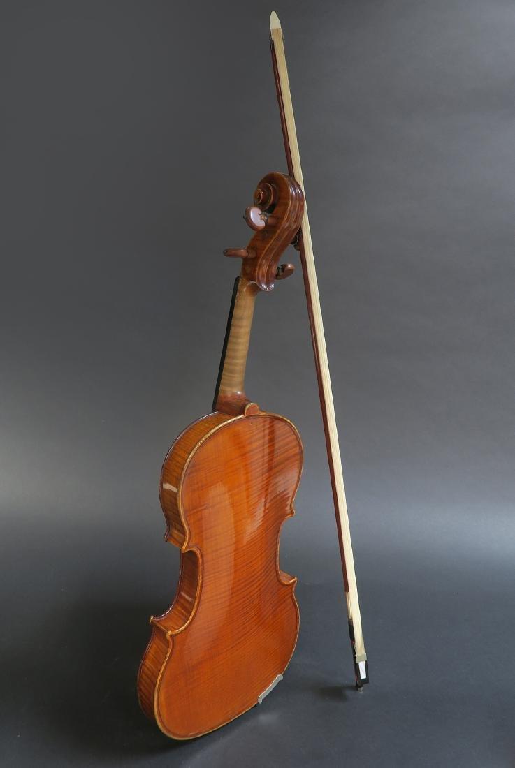 """19th C. French Mirecourt Aubert"""" Violin - 3"""