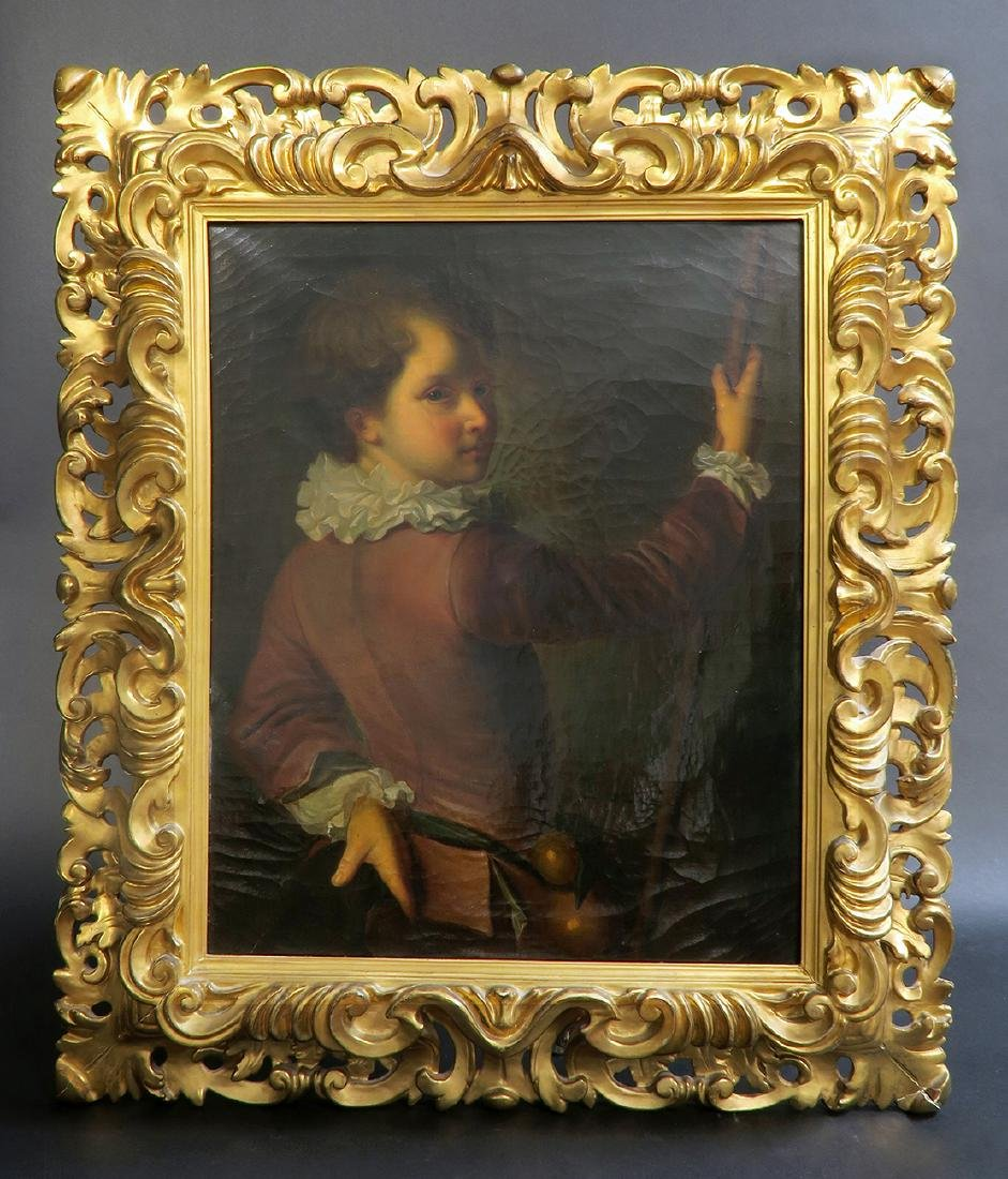 18th/19th C. French School Oil Painting Portrait - 2