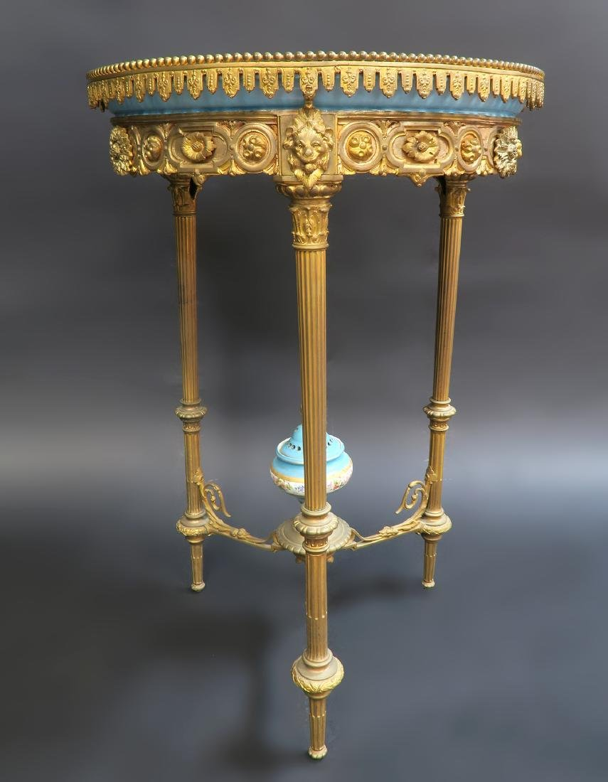 19th C. French Sevres Bronze Table - 2