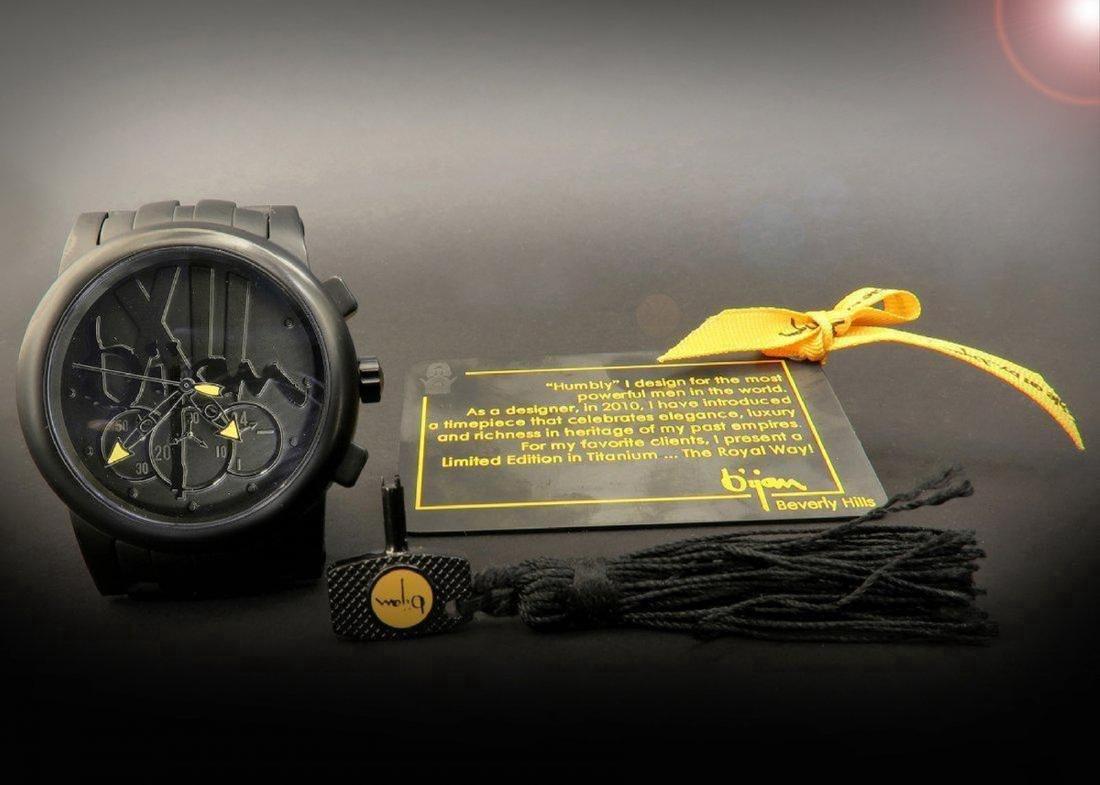 "Limited Edition Titanium Bijan ""Royal Way"" Men's Watch - 5"
