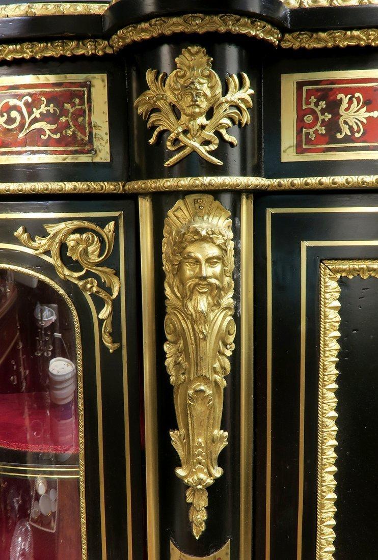 Large French Boulle Bronze Mounted Vitrine Cabinet - 4