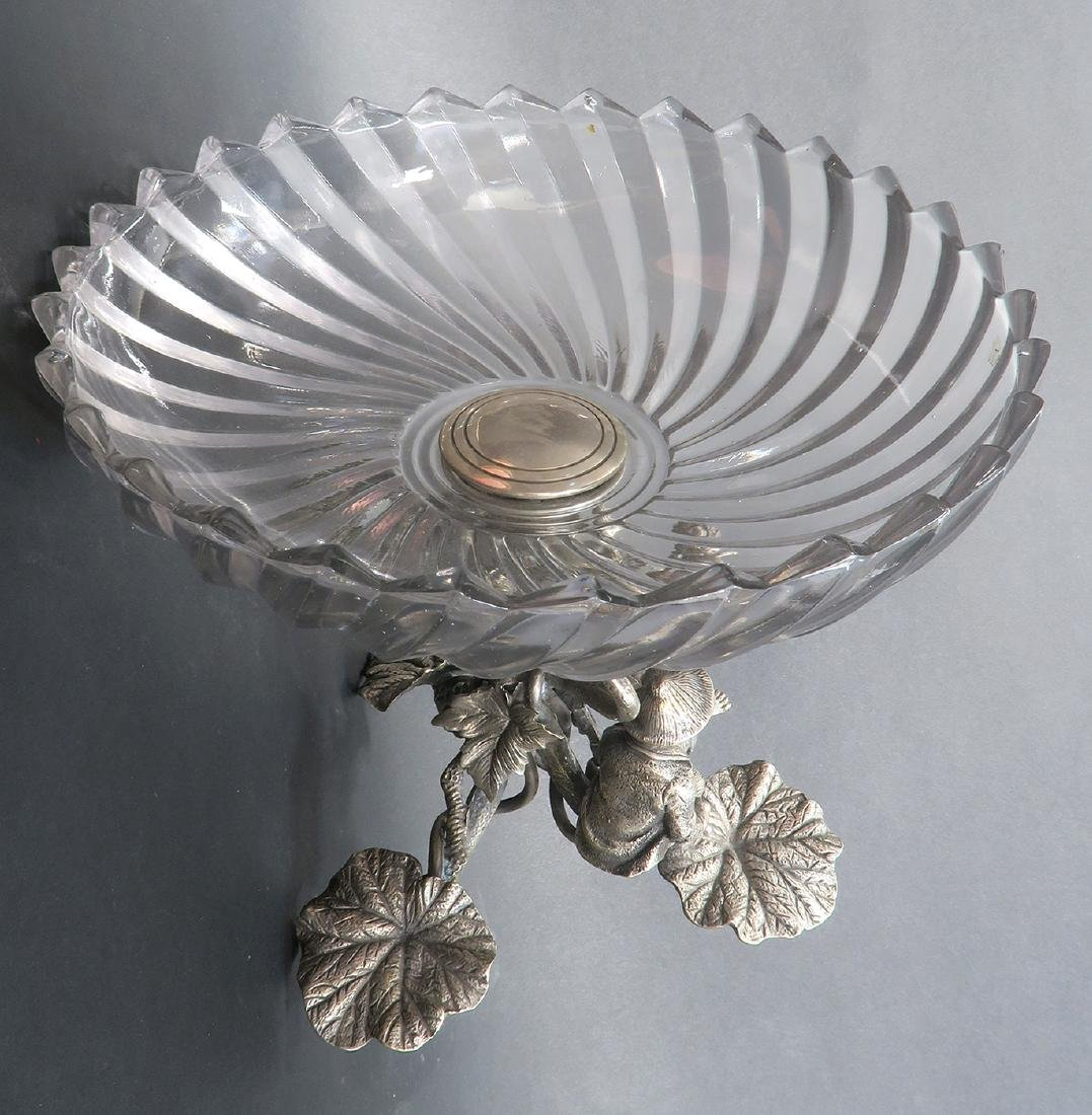 Silver-Plated & Baccarat Crystal Figural Centerpiece - 6