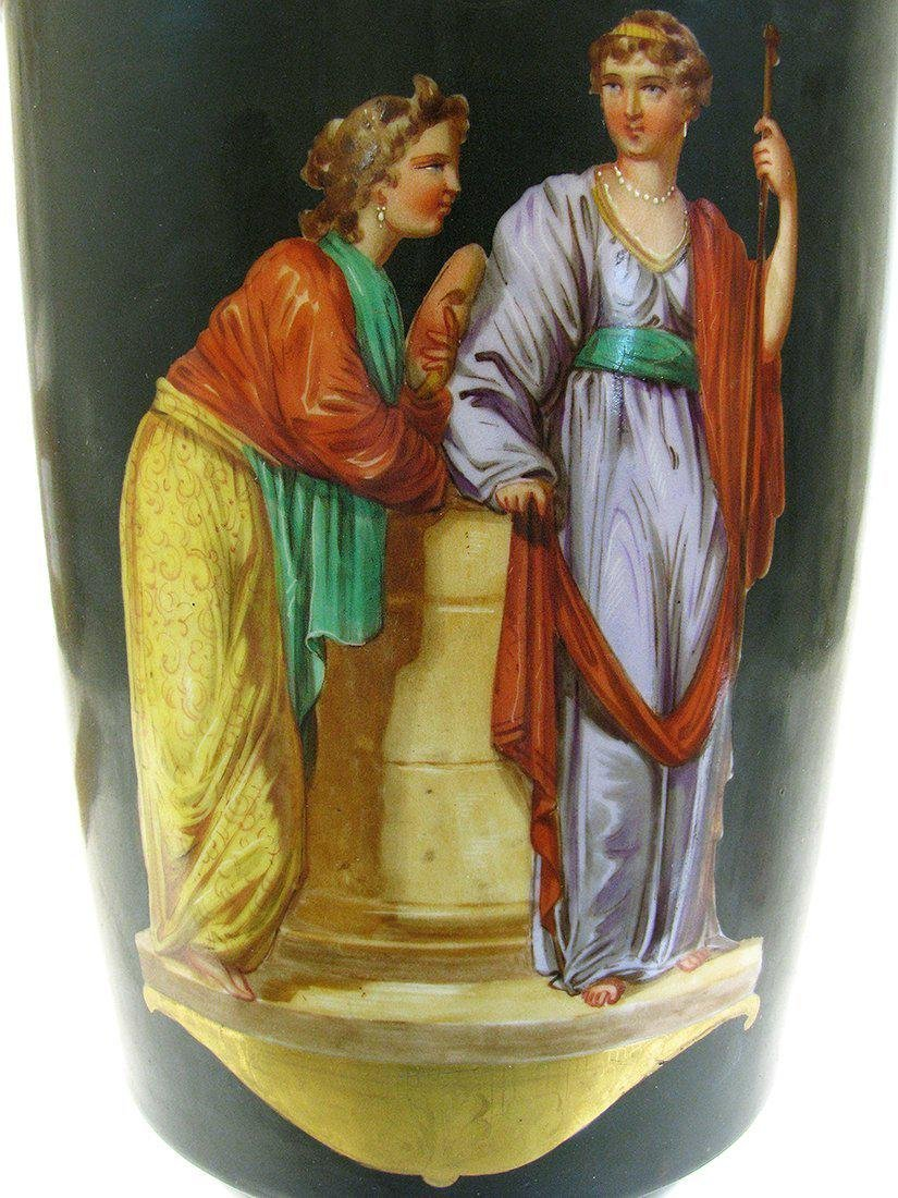 Pair of 19th C. Hand Painted Porcelain Vases - 4