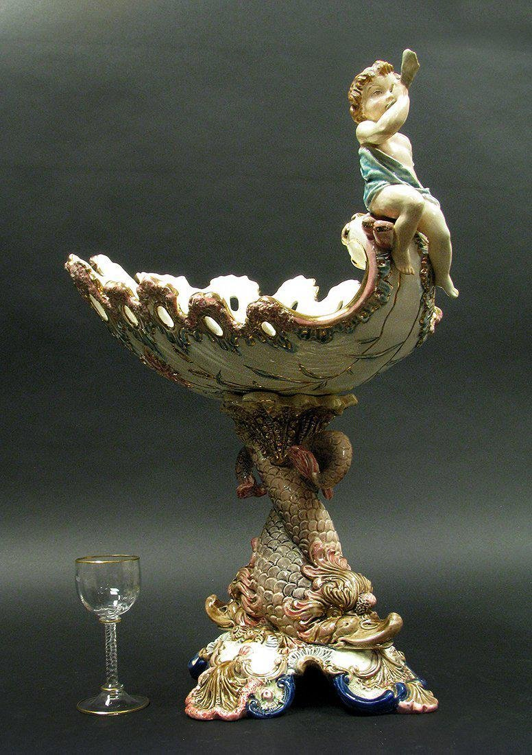 Large 19th C. Porcelain Compote - 2