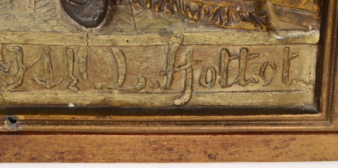 "A PAIR OF FRENCH BRONZE PLAQUES SIGNED ""LOUIS HOTTOT"" - 4"
