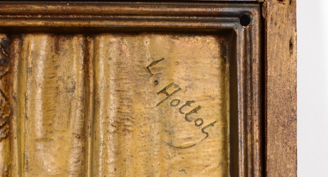 "A PAIR OF FRENCH BRONZE PLAQUES SIGNED ""LOUIS HOTTOT"" - 5"