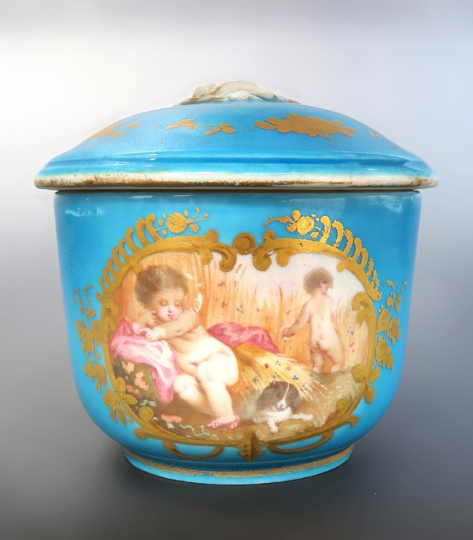19th C. French Sevres Hand Painted Tea Sets - 4