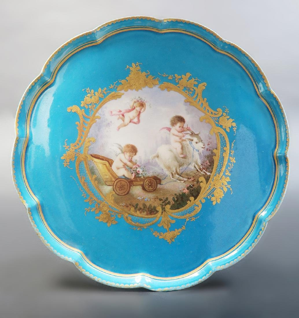19th C. French Sevres Hand Painted Tea Sets - 6