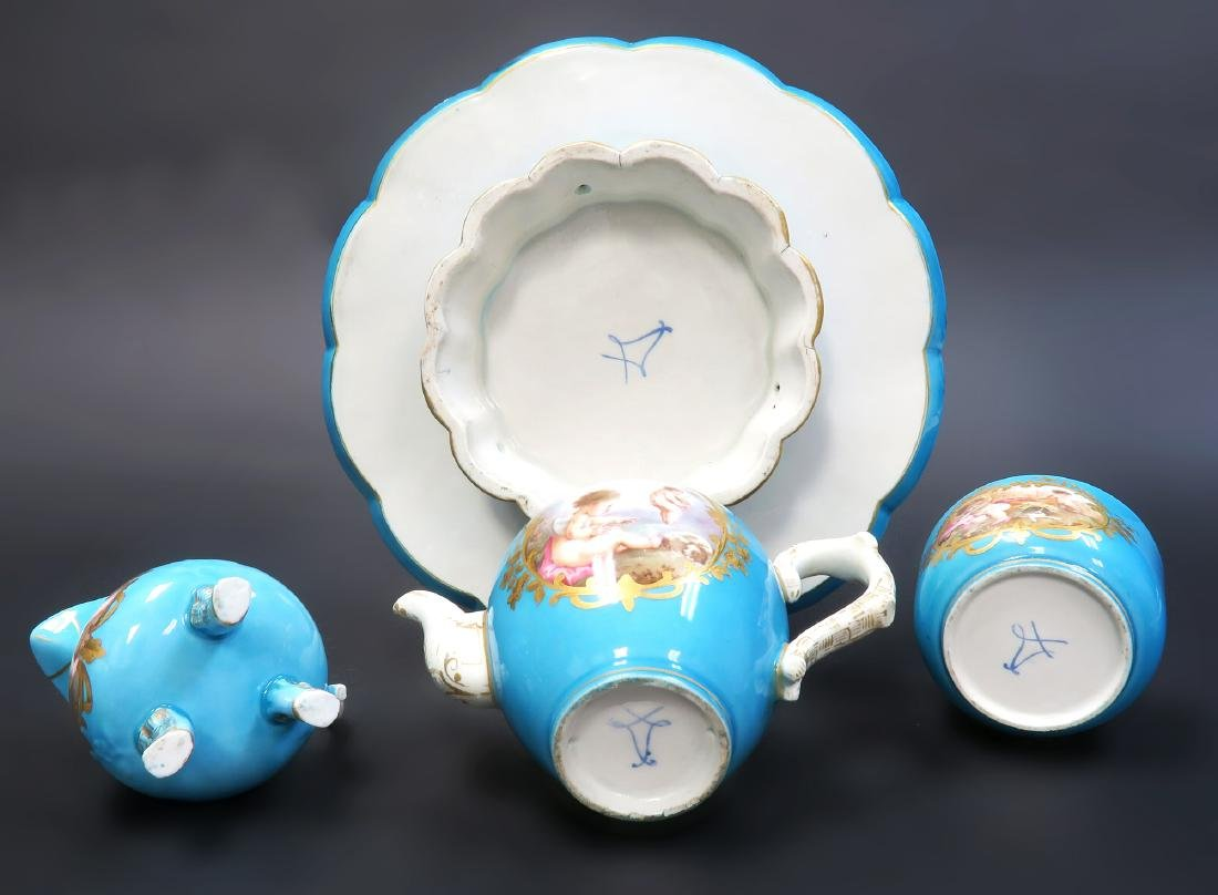 19th C. French Sevres Hand Painted Tea Sets - 7