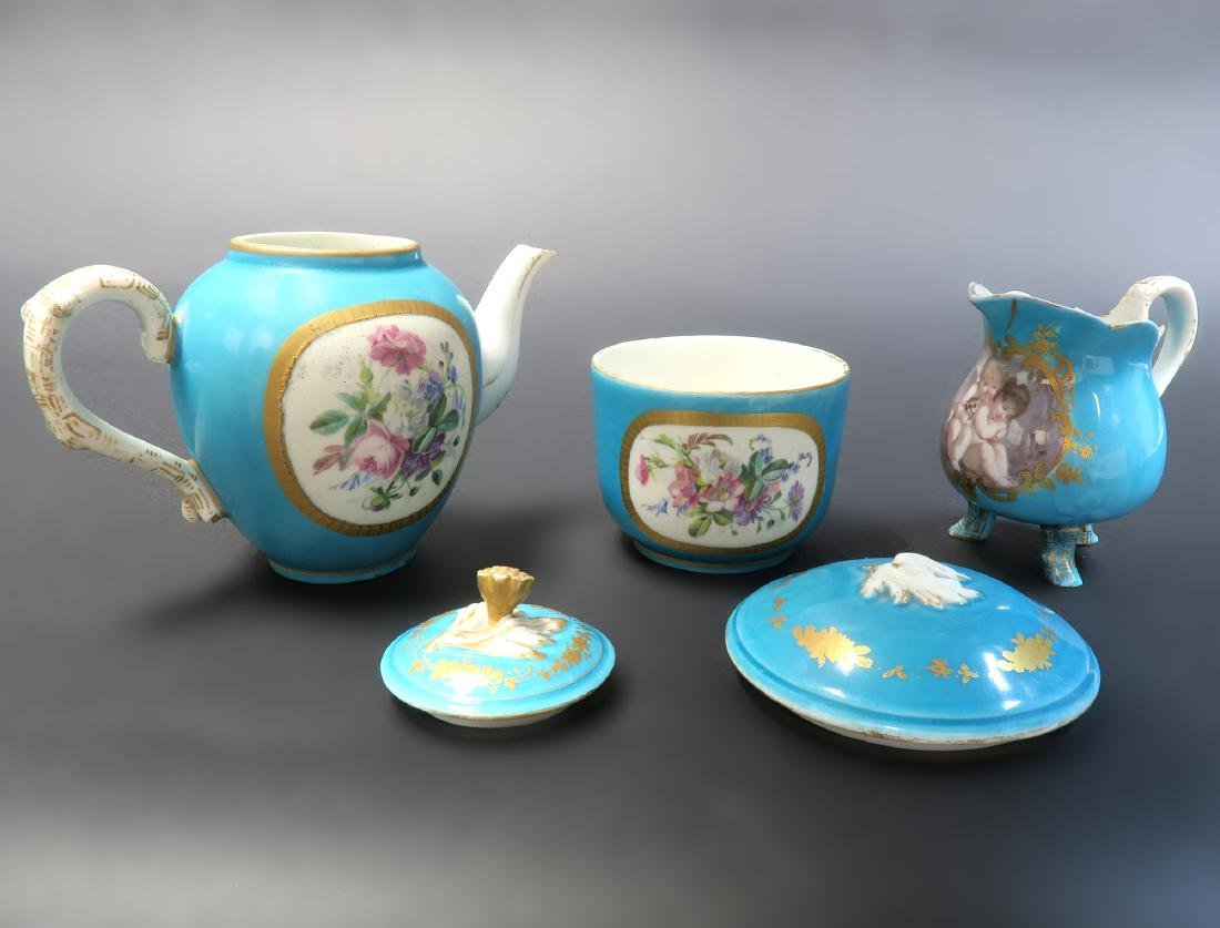 19th C. French Sevres Hand Painted Tea Sets - 8