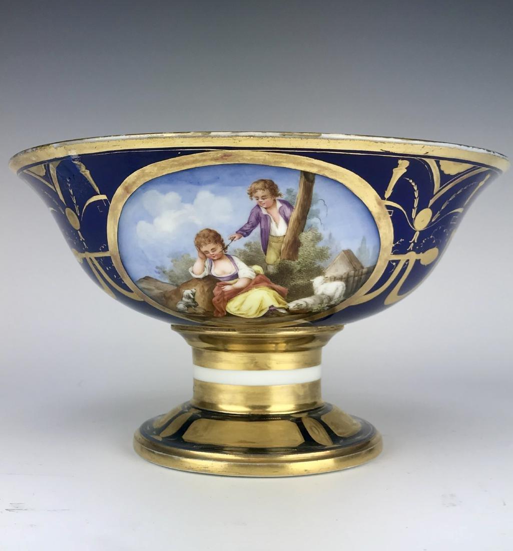 19th C. French Sevres Porcelain Centerpiece - 3