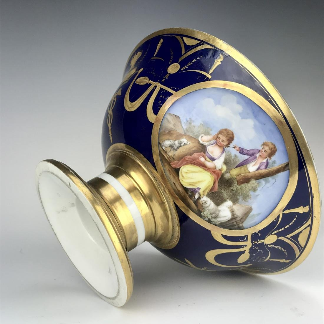 19th C. French Sevres Porcelain Centerpiece - 4