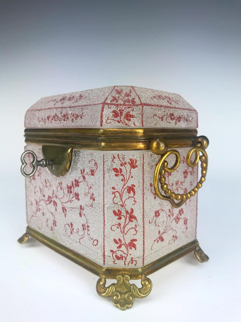 French Bronze & Baccarat Crystal Jewelry Box - 2