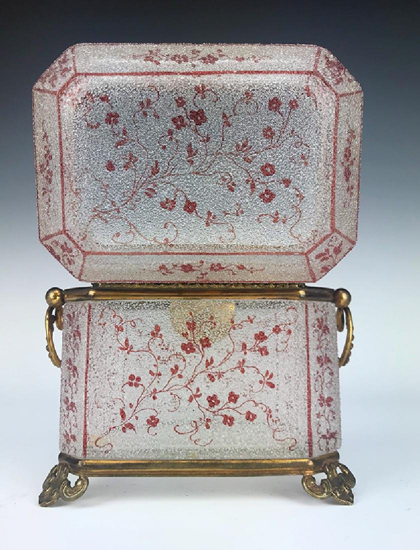 French Bronze & Baccarat Crystal Jewelry Box - 3