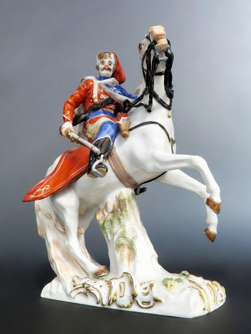 Rare Meissen Figure of Husar Horse Riding - 2