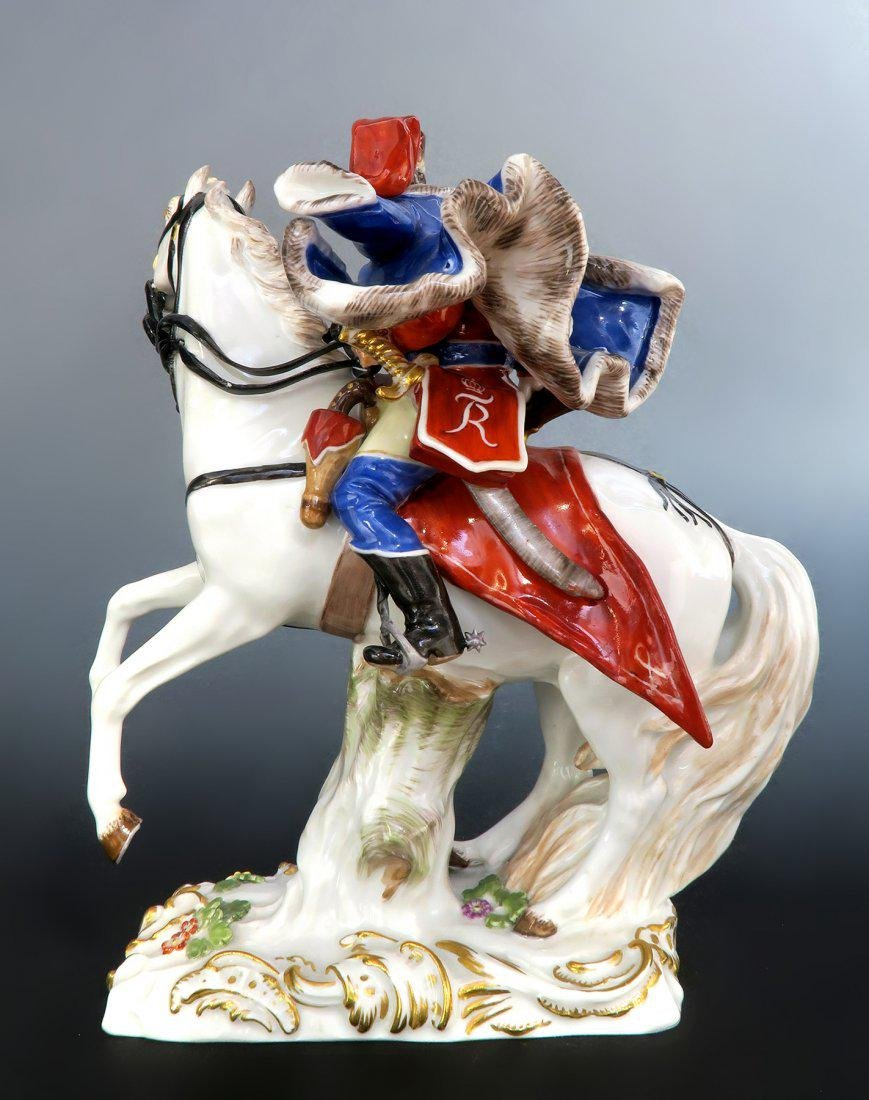 Rare Meissen Figure of Husar Horse Riding - 4