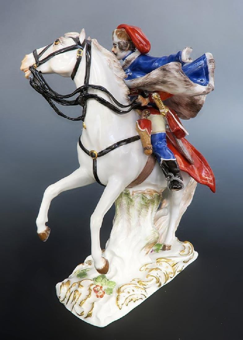 Rare Meissen Figure of Husar Horse Riding - 5