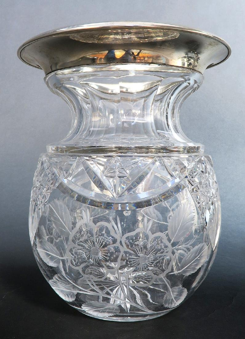 19th C. Figural Silver plated & Crystal Centerpiece - 5