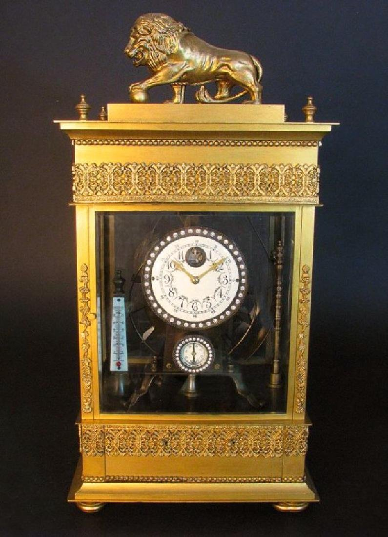 Large French Gilt Bronze Mechanical Falling Ball Clock - 2
