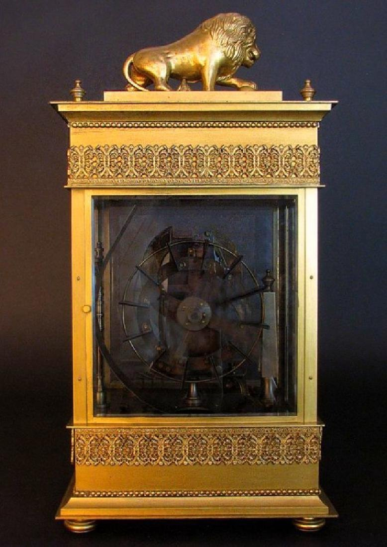 Large French Gilt Bronze Mechanical Falling Ball Clock - 8