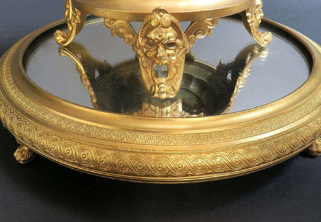 19th C. French Bronze & Crystal Centerpiece/Plateau - 6