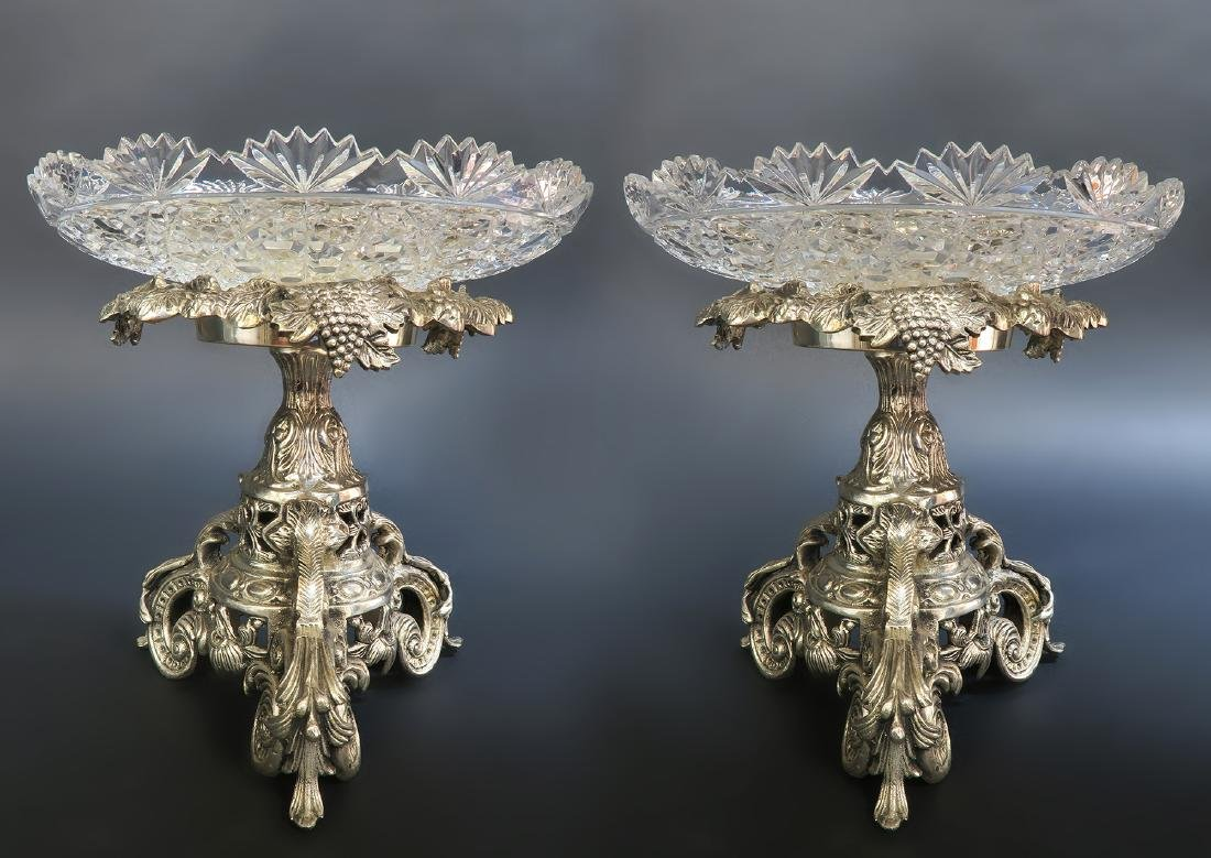 Pair of French Silver-Plated Christofle Style Compotes - 3