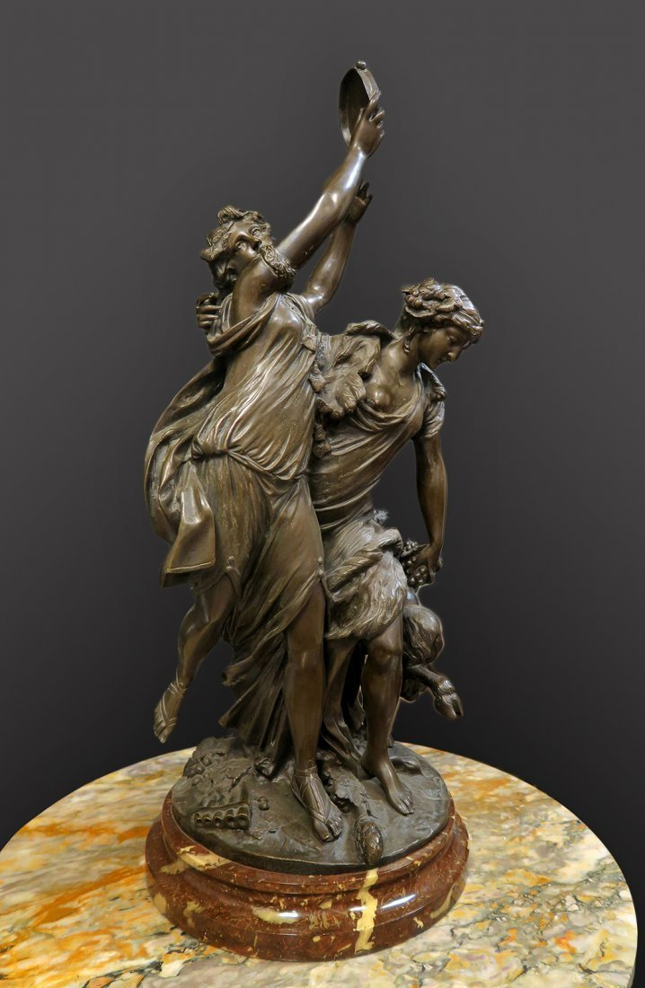 Monumental French Bronze Sculpture After Clodion