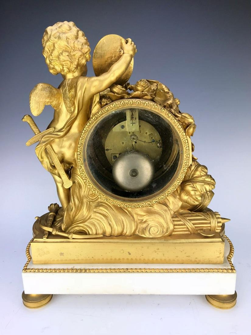 "Magnificent Mantle Clock Set Signed ""Lambert L'aine"" - 3"