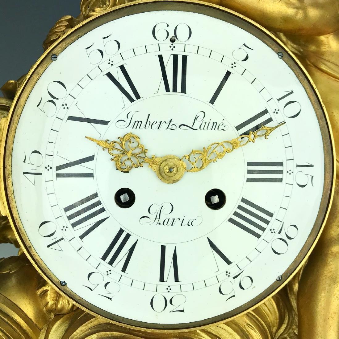 "Magnificent Mantle Clock Set Signed ""Lambert L'aine"" - 7"