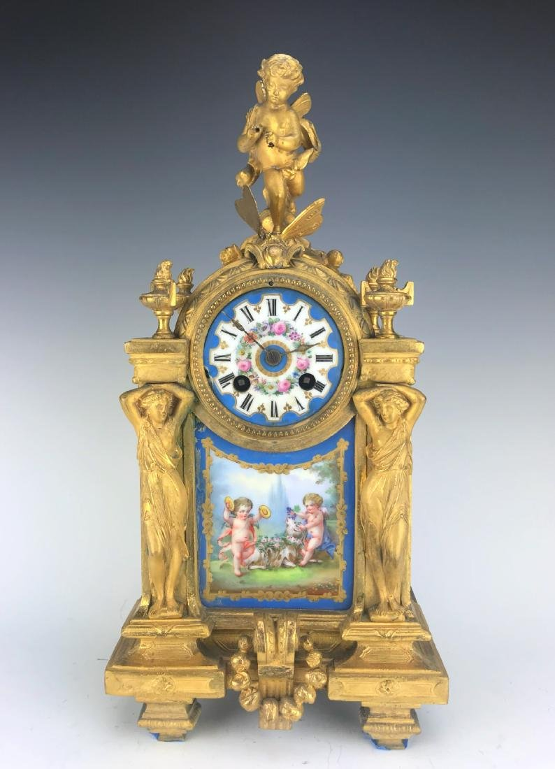 "French Clock Signed By ""PH MOUREY"""