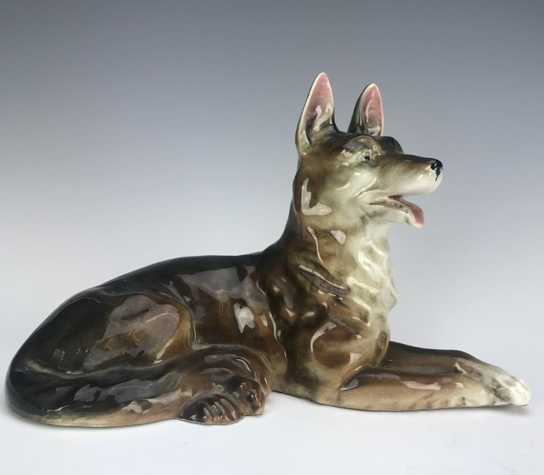 Antique Hand Made Porcelain Dog - 2