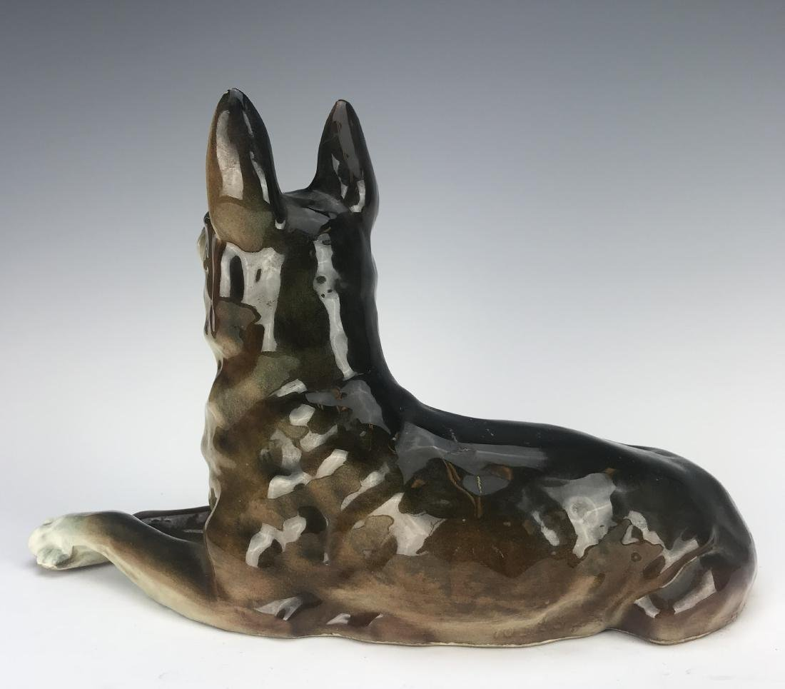 Antique Hand Made Porcelain Dog - 3