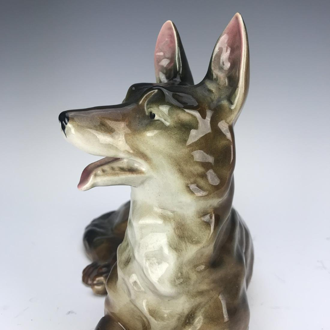 Antique Hand Made Porcelain Dog - 4