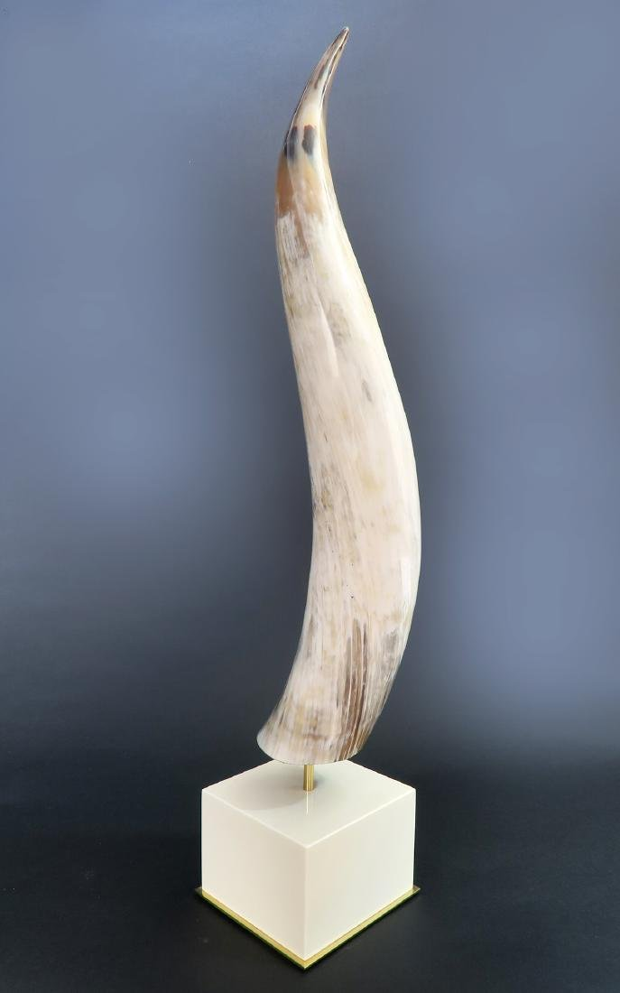 A Sculptured Yak Horn - 2