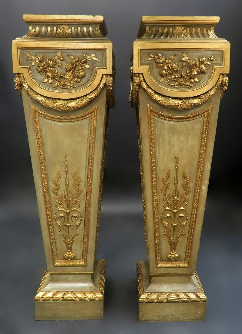 Very Fine Pair of French Louis XVI Style Pedestals
