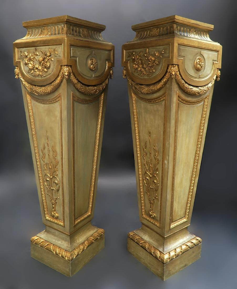 Very Fine Pair of French Louis XVI Style Pedestals - 2