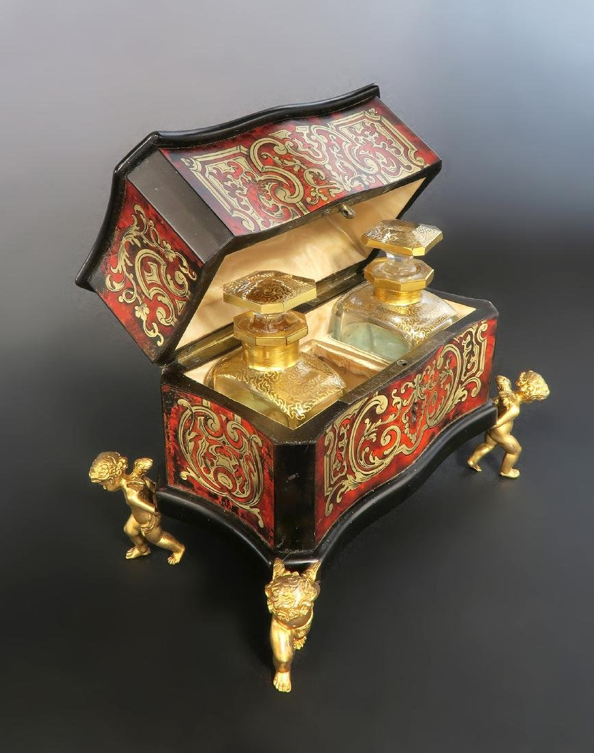 19th C. French Boulle Vanity Box by Tahan