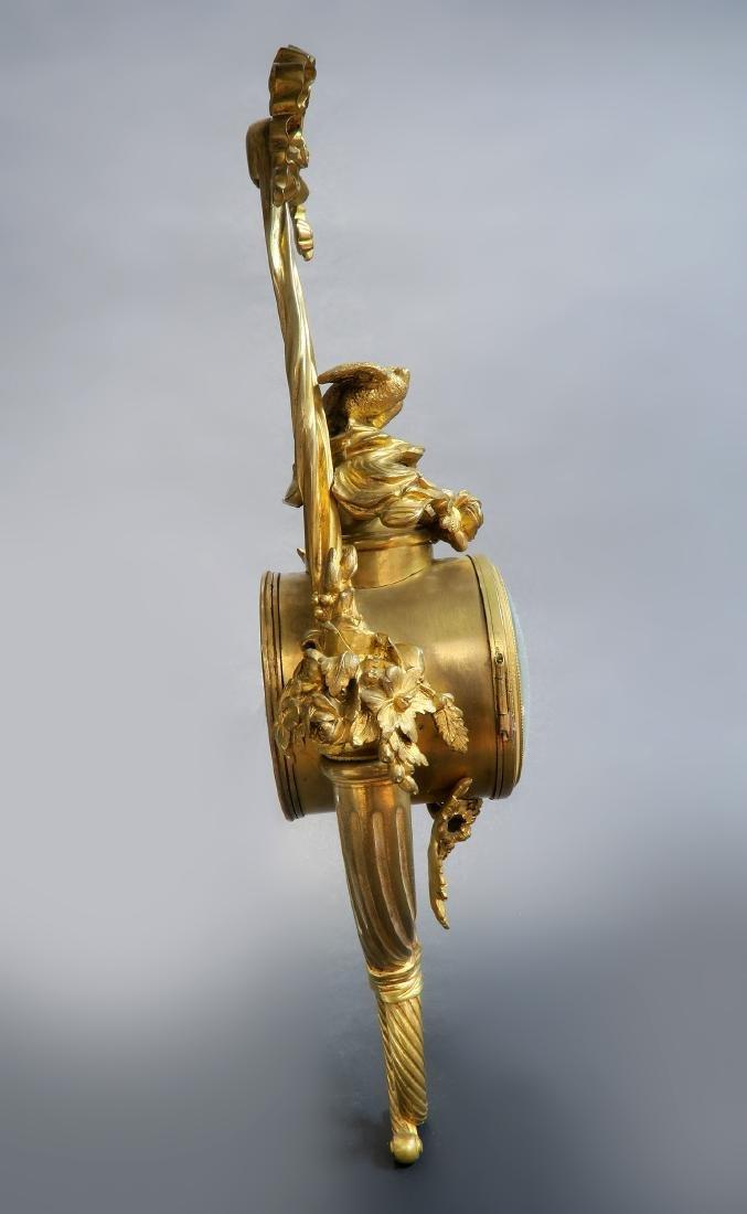 Tiffany & Co French Bronze Cartel Clock, 19th C. - 5