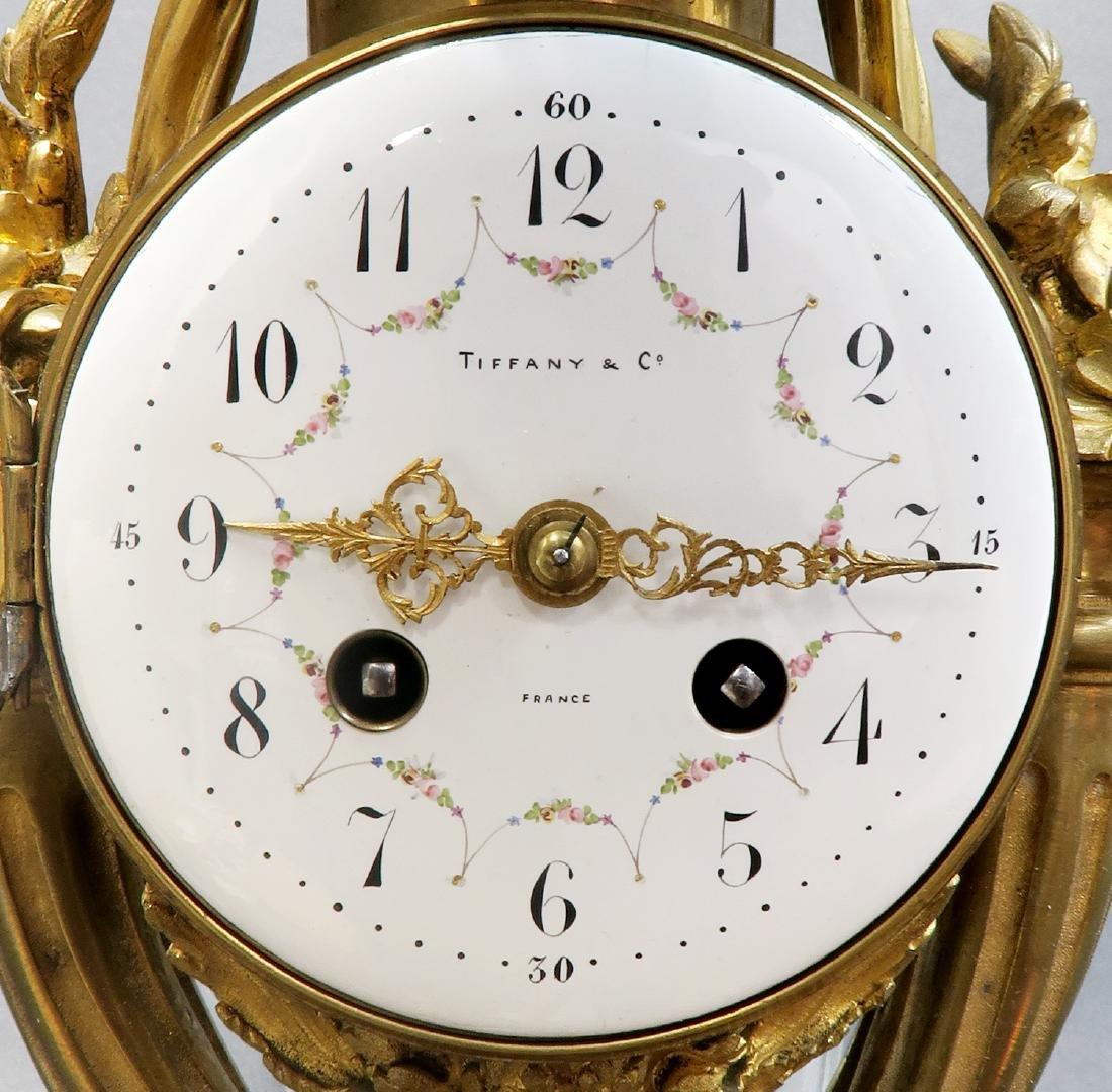 Tiffany & Co French Bronze Cartel Clock, 19th C. - 6