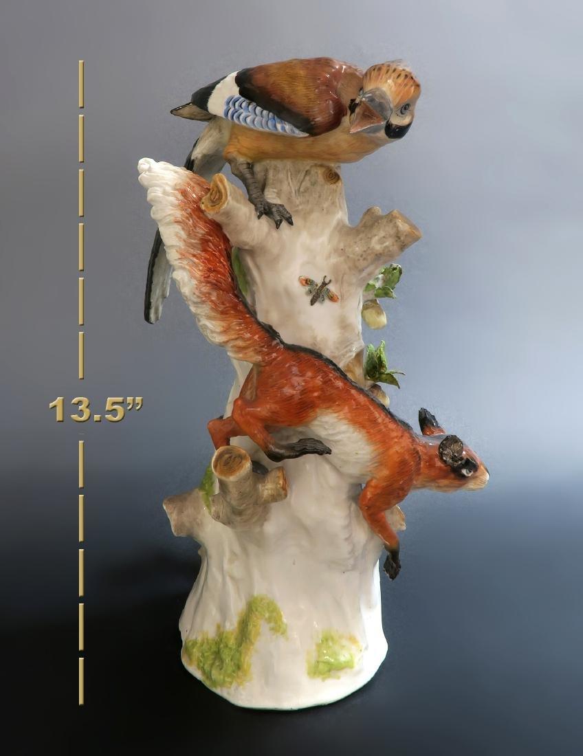 Fine Hand Painted Meissen Style Birds, 19th C. - 6