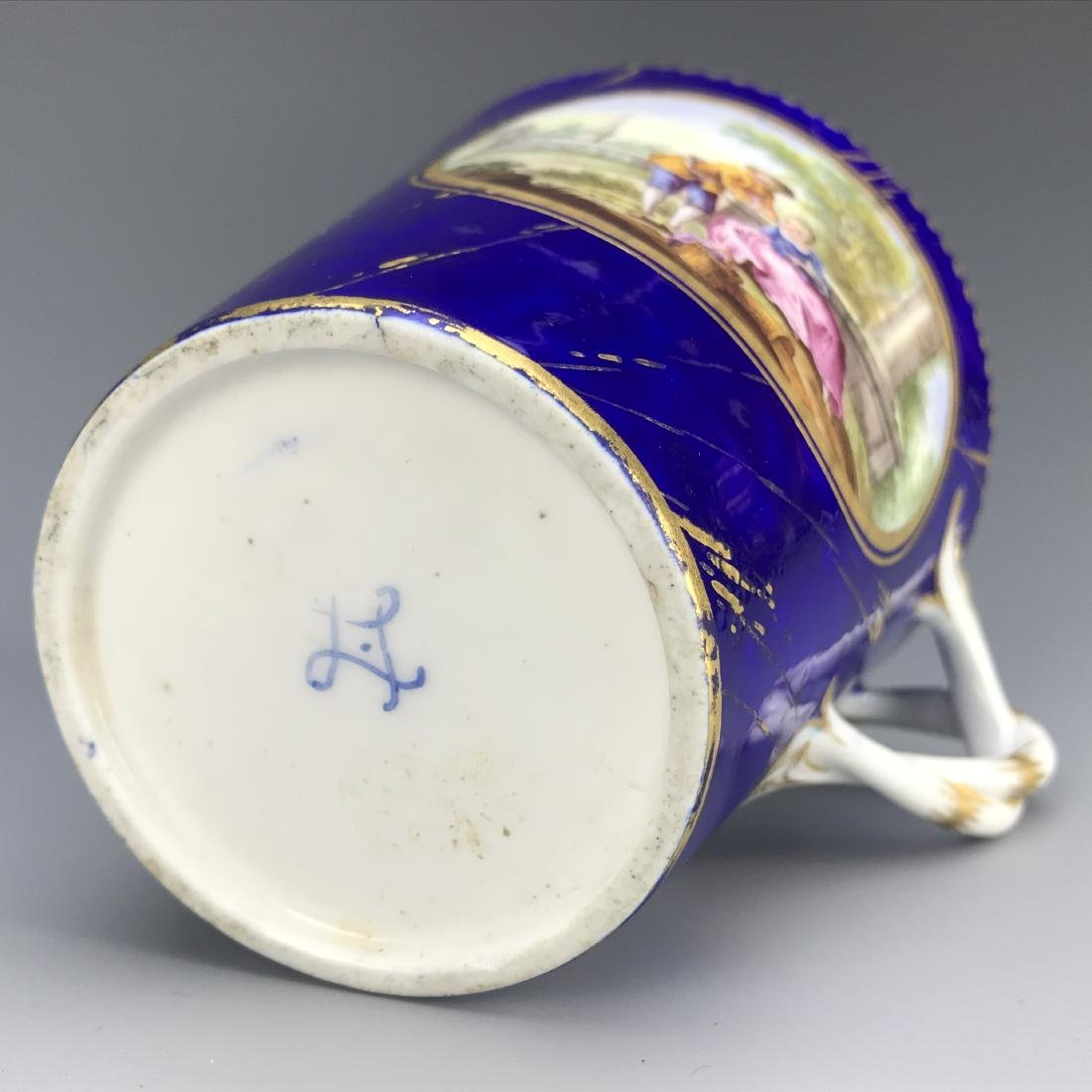18th C. French Porcelain Sevres Cup & Saucer - 5