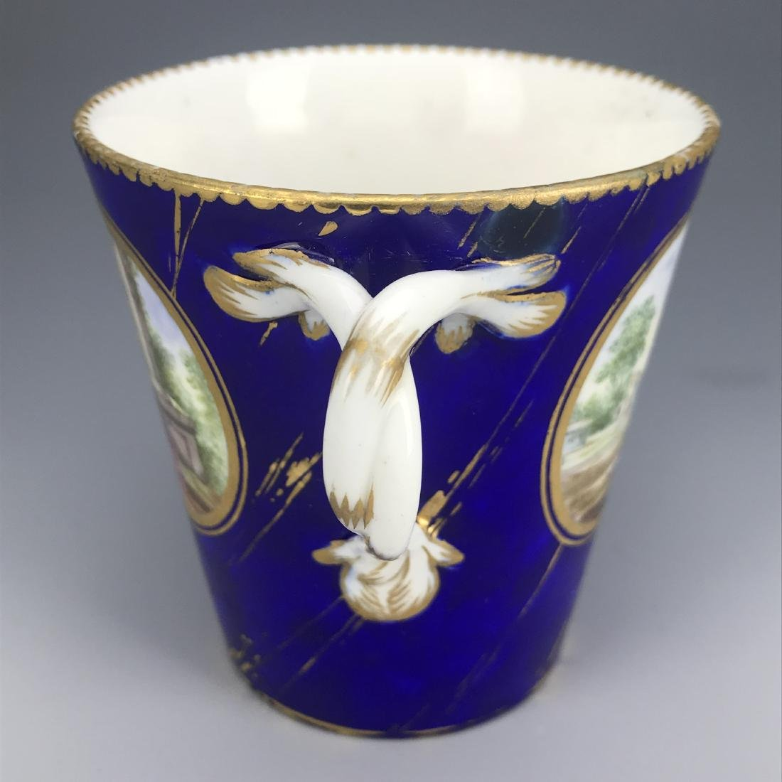 18th C. French Porcelain Sevres Cup & Saucer - 6